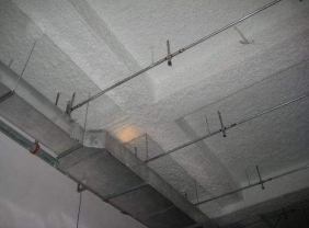 无机纤维喷涂构造